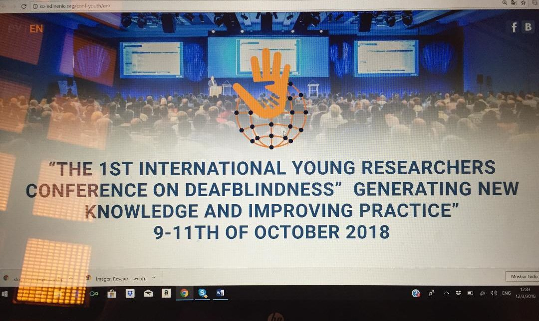 """THE 1ST INTERNATIONAL YOUNG RESEARCHERS CONFERENCE ON DEAFBLINDNESS"""